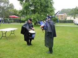 Jim Dawson competition Piping with the Drum Sergeant.
