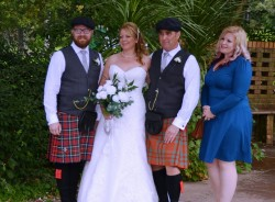 From Left to Right, Pipe Major, Mr & Mrs Barrow and Hannah, September 22 2017